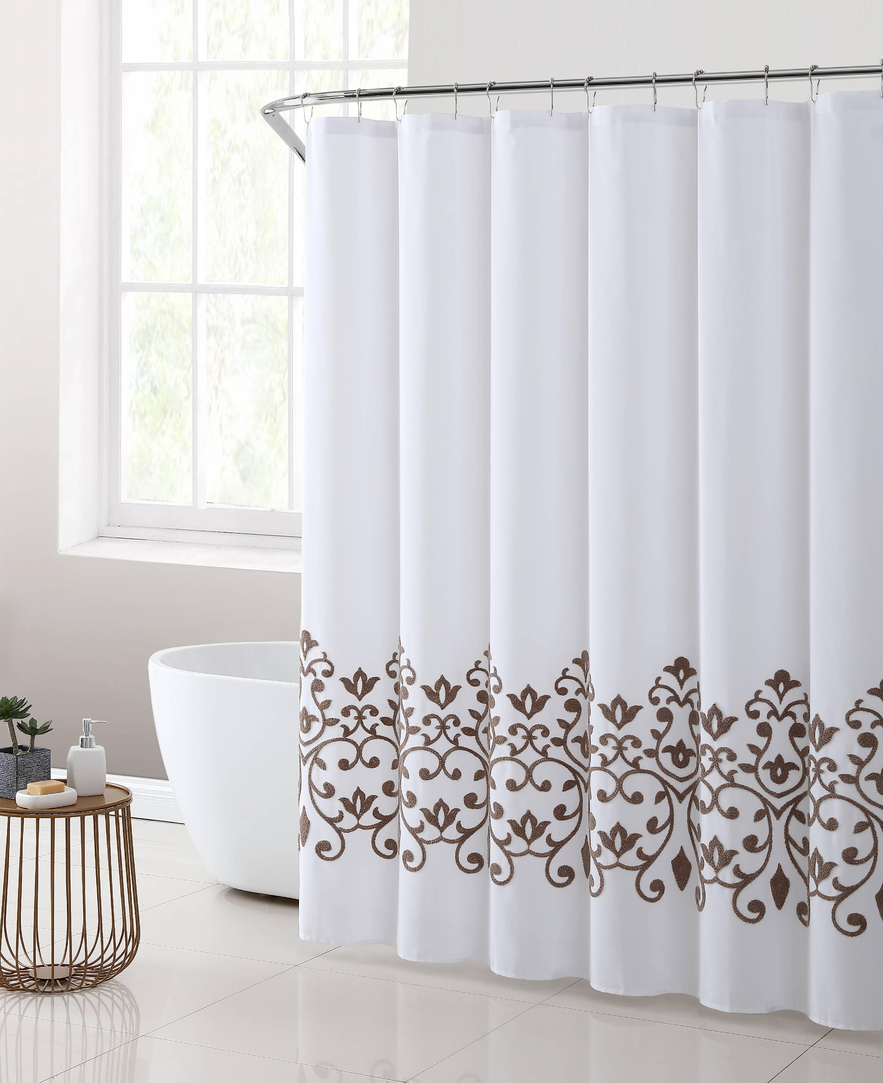 better homes & gardens montauk embroidered shower curtain