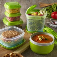 Fit & Fresh 17 Piece Fresh Selects Food Storage Container Set (Green)