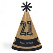 Finally 21 Girl - 21st Birthday - Cone Happy Birthday Party Hats for Kids and Adults - Set of 8 (Standard Size)