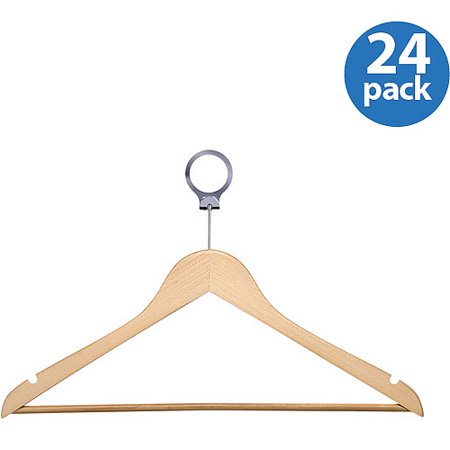Honey Can Do 24Pk Hotel Suit Hangers  Maple