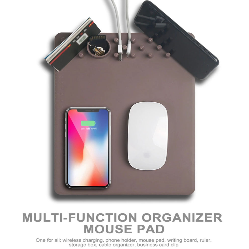 QI Wireless Charging Organizer Mouse Pad Power Station PRO Advanced Version Multi-Function Organizer Mouse Pad
