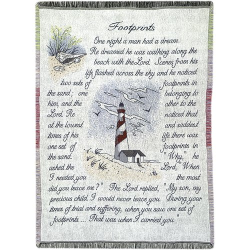 Manual Woodworkers & Weavers Footprints 2.5 Layer Cotton Throw