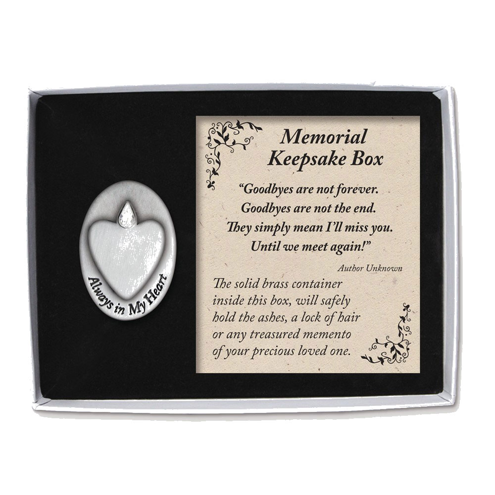 Goldia Always in My Heart Memorial Box - Perfect Religiou...