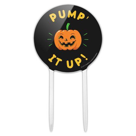 Halloween Themed Baby Shower Pinterest (Acrylic Pumpkin Pump It Up Halloween Funny Humor Cake Topper Party Decoration for Wedding Anniversary Birthday)