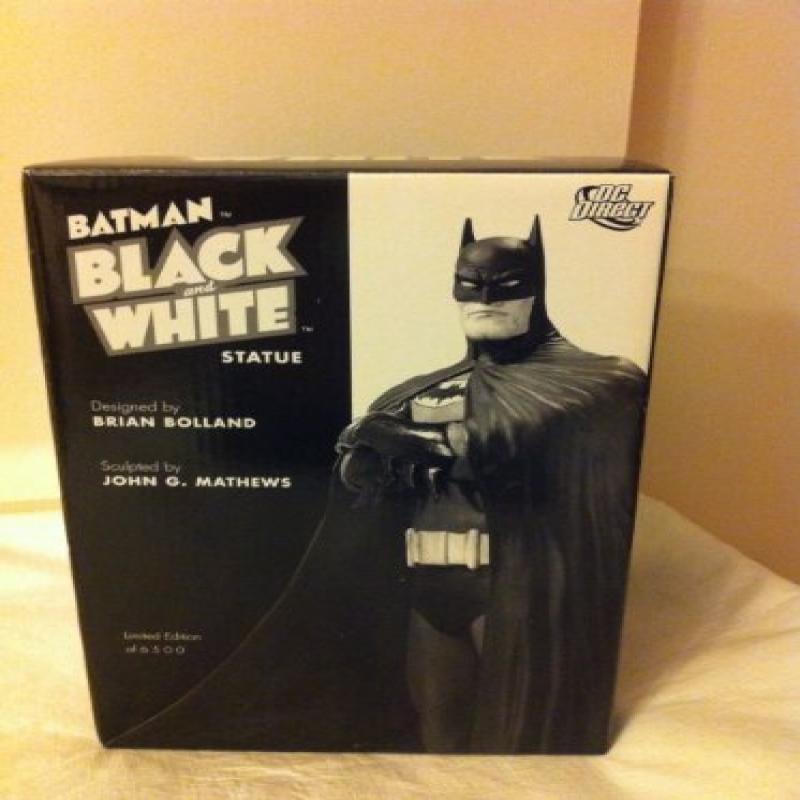 "DC Direct Batman Black & White Series 7-3/4"" Original Sta..."