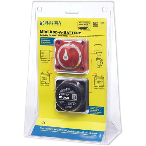Blue Sea Systems Mini Add-A-Battery Kit, 65A