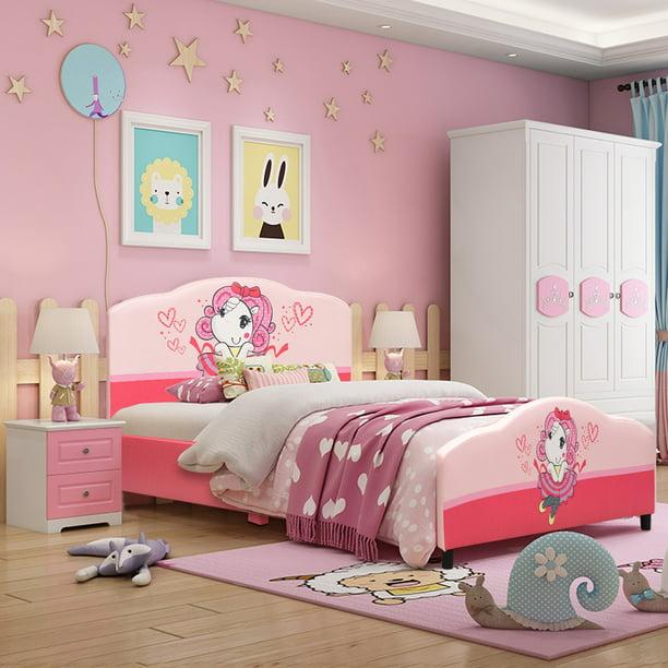 Costway Kids Children Upholstered, Toddler Bedroom Furniture