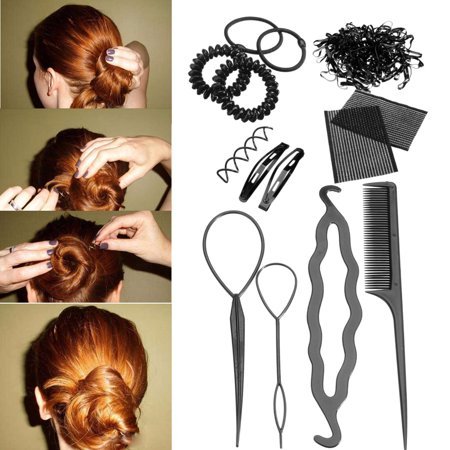 Hair Styling Accessory Magic Clip Maker Tools Pads Foam Sponge Bun Donut - 80s Hair Accessories