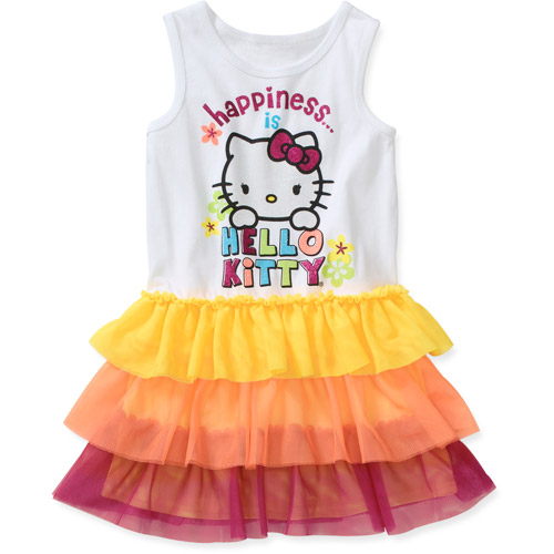 Hello Kitty Baby Girls' Tee Ruffle Botto
