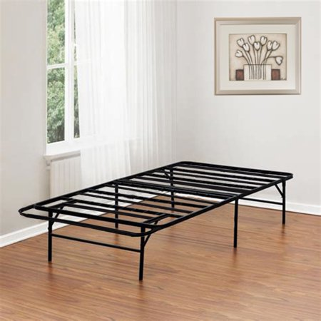 Bed Frame Platform Folding Bed Frame Twin Metal Base