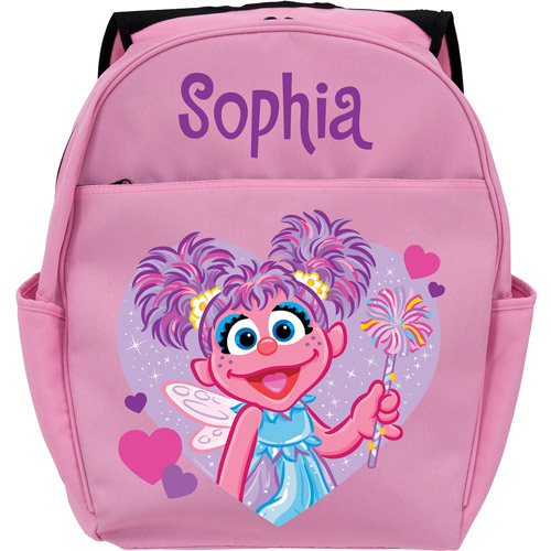 Personalized Sesame Street Pink Toddler Backpack - Abby Cadabby Twinkle