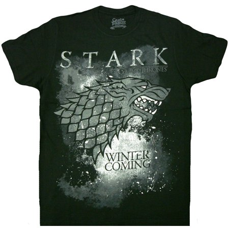 HBO'S Game of Thrones Winter Is Coming Stark Adult T-Shirt - Game Of Thrones Outfits