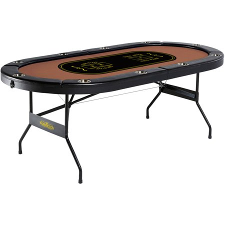 Barrington 10-Player Poker Table, No Assembly (Money In The Middle Of Poker Table)