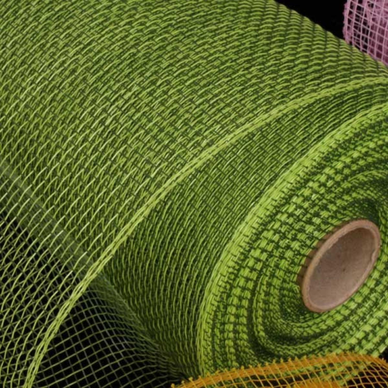 "Lime Green Deco Mesh Craft Ribbon 6.5"" x 120 Yards"