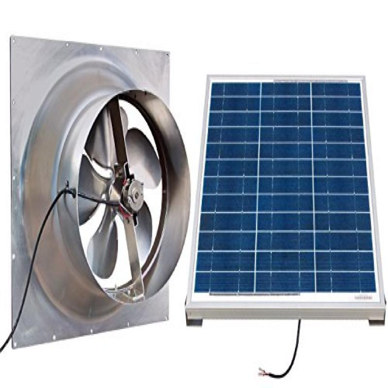 Gable Mounted Solar Attic Fan - 60 Watts - 3100 sq ft