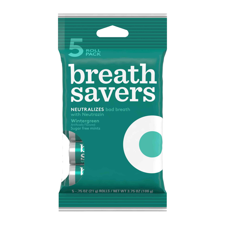 Breath Savers, Wintergreen Mints, 3.75 Oz, 5 Ct