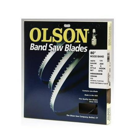 Olson Saw WB56380DB Bandsaw Blade, .25 x 80-In., 6-TPI (Carter Band Saw Blades)
