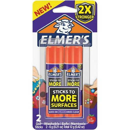 Elmers & X-Acto 2027010 0.21 oz Extra Strength Glue Sticks - 2 per Pack