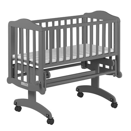 Dream On Me Lullaby Cradle Glider - Steel Grey (Baby Boy Cradle)