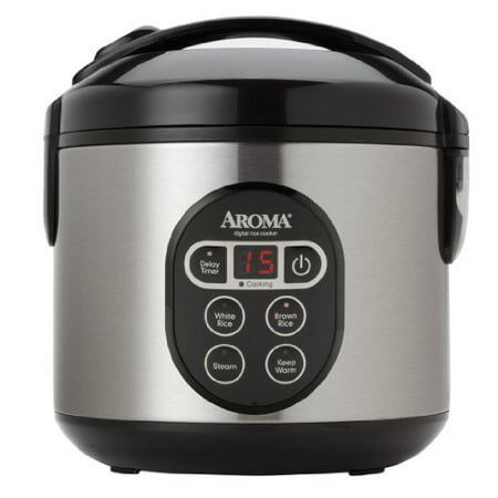 Aroma Housewares ARC-914SBD 8-Cup (Cooked) Digital Cool-Touch Rice Cooker and Food Steamer with