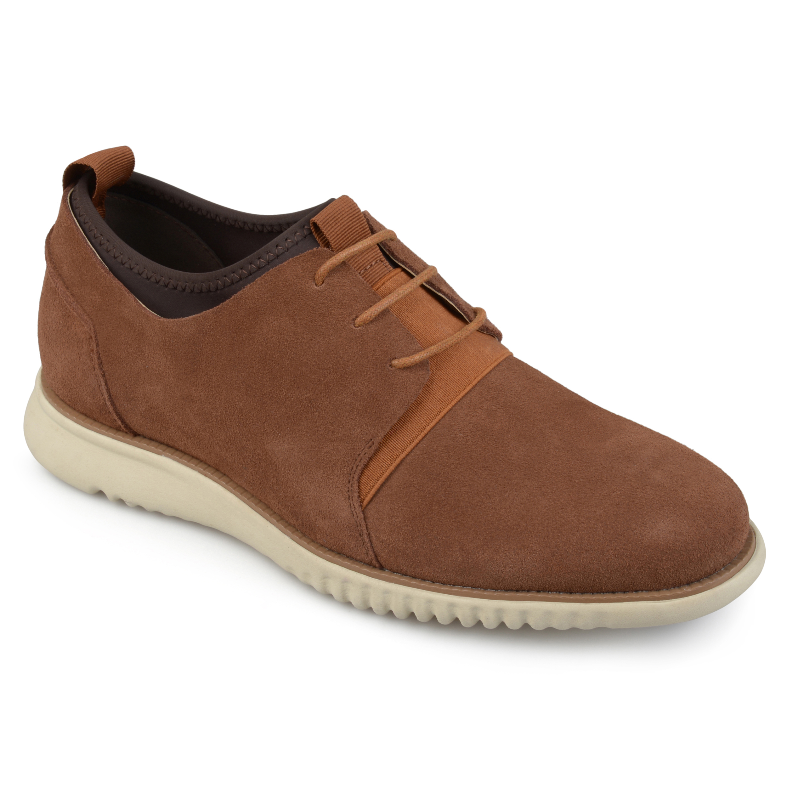 Territory Men's Casual Lace-up Comfort Sole Genuine Suede Shoes