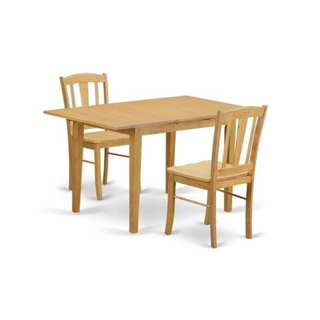 East West Furniture Norfolk 3 Piece Harvester Dining Table Set ()
