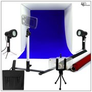 """16"""" Tabletop Product Light Tent Cube Box with Color Backdrops, LED Lights, Tripods, and Cell Phone Holder by Loadstone Studio  WMLS0401"""