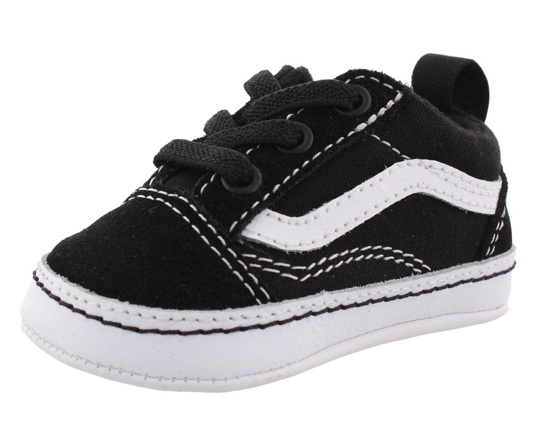 Vans - Vans Old Skool Crib Baby Boys Shoes Size 4, Color: Black/True White - Walmart.com