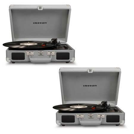 Crosley Cruiser Deluxe Bluetooth Enabled Portable 3 Speed Turntable (2 (Crosley Lavender Ice Cruiser Bluetooth Record Player)