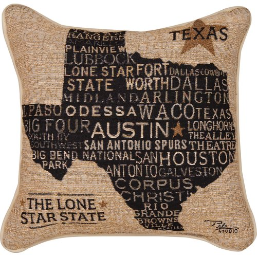 Manual Woodworkers & Weavers USA Texas Throw Pillow
