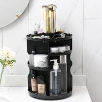 360 Degree Rotating Makeup Organizer Cosmetics Storage Stand Rack US Stock Black