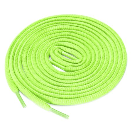 "2 Pairs Oval Half Round Shoelaces Sneakers Bright Green 140 cm/55"" - image 4 de 4"