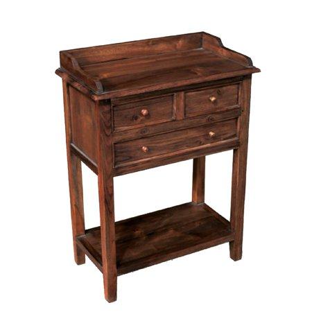 Nes Furniture Handmade Dana Solid Teak 35 Inch Console Table