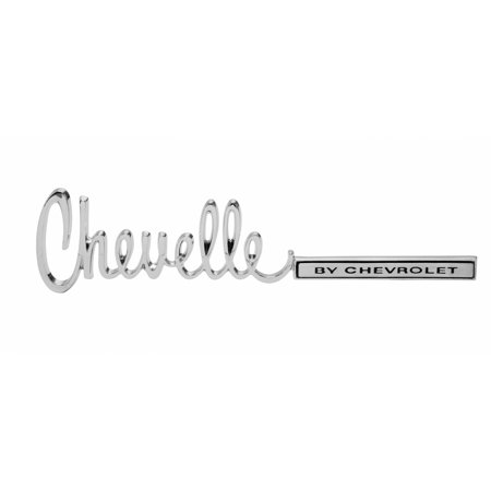Eckler's Premier  Products 50203756 Chevelle Trunk Emblem Chevelle By (Chevrolet Chevelle Trunk)