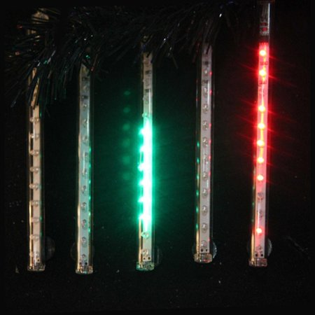 Snowfall Set Of 5 7 Quot Led Outdoor Christmas Icicle Light