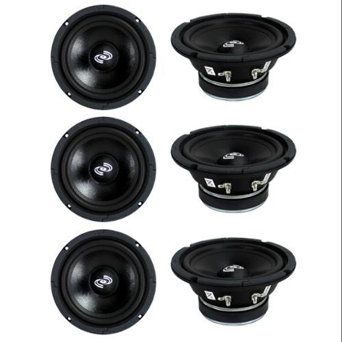 "6) Pyle PDMR6 MidRange 6.5"" 1800W Car Mid Bass Mid Range Woofers Audio Speakers"