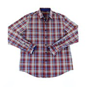 Tasso Elba NEW Red Blue Mens Size Small S Check Plaid Button-Front Shirt