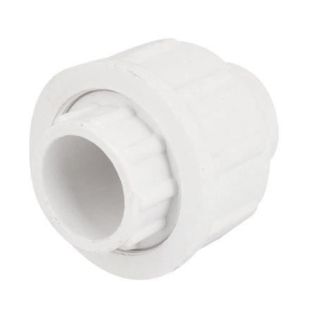Unique bargains white pvc plastic pipe adapter connector for White plastic water pipe