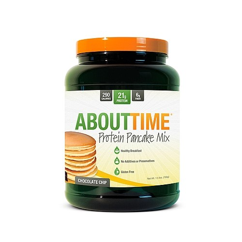SDC About Time Protein Pancake Mix, Chocolate Chip, 1.5 Lb