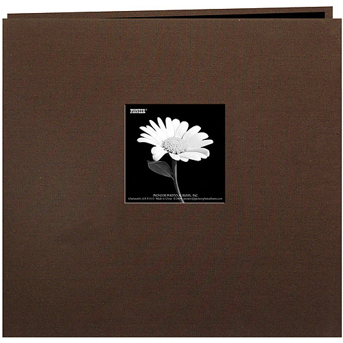 "Book Cloth Cover Postbound Album With Window, 12"" x 12"""