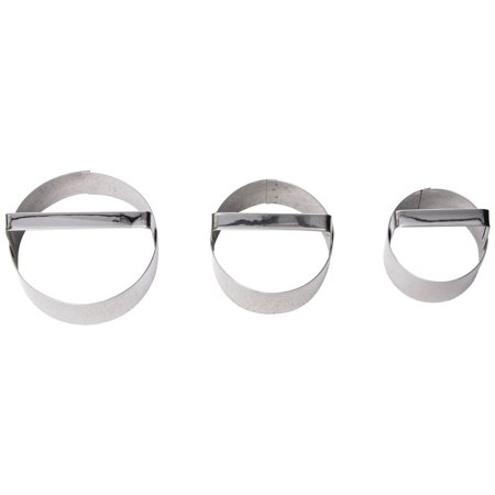 Fox Run Round Cookie Cutters, Set Of 3, Round 2