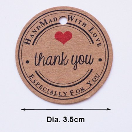 Halloween Thank You Tags (100Pcs Letter Printing Kraft Hanging Tags Favor Gift Papers Tags Style:Thank You)