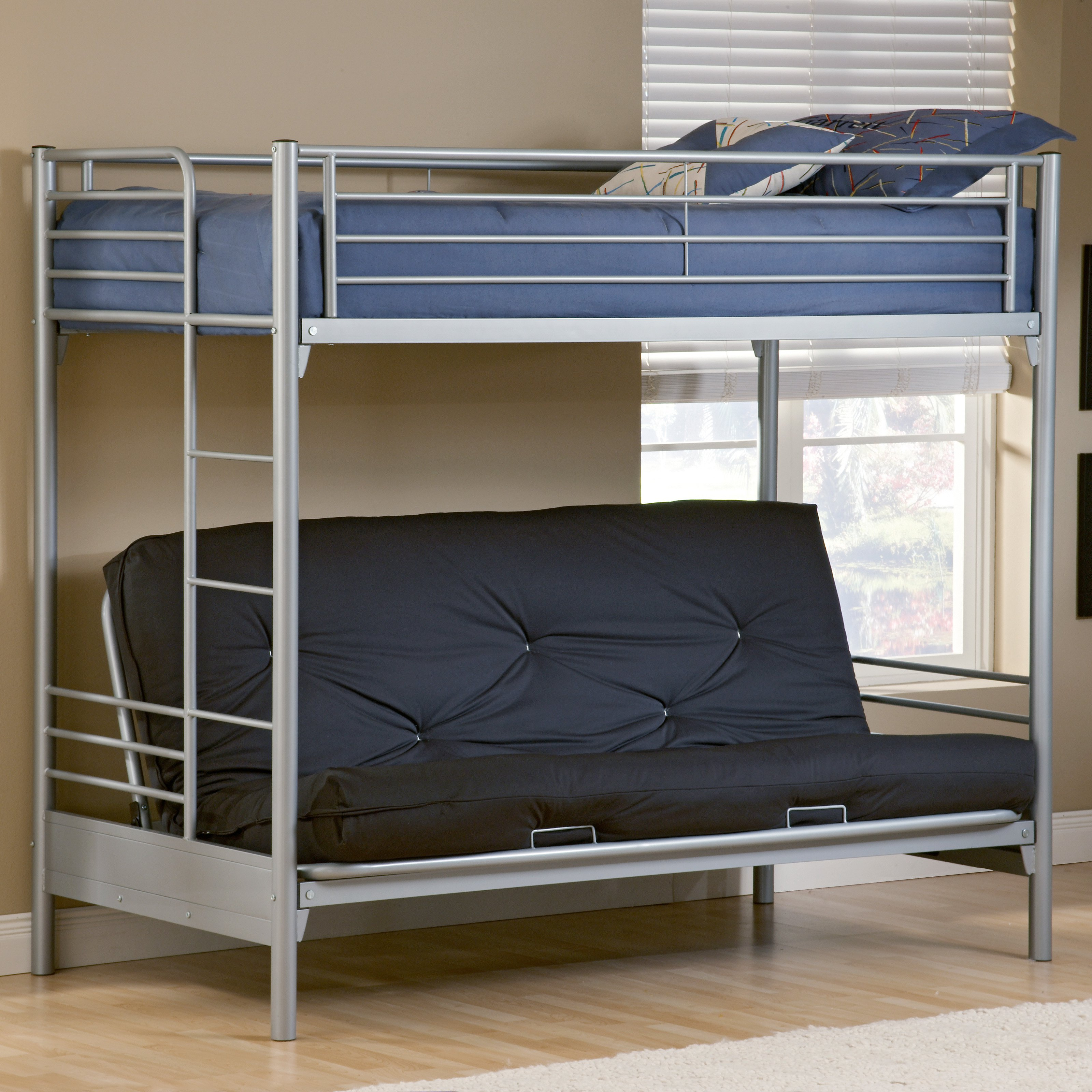 Universal Twin Over Futon Bunk Bed Walmart Com