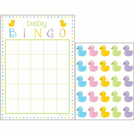 Simple Baby Shower Games (Way to Celebrate Baby Shower Bingo Game with Stickers,)