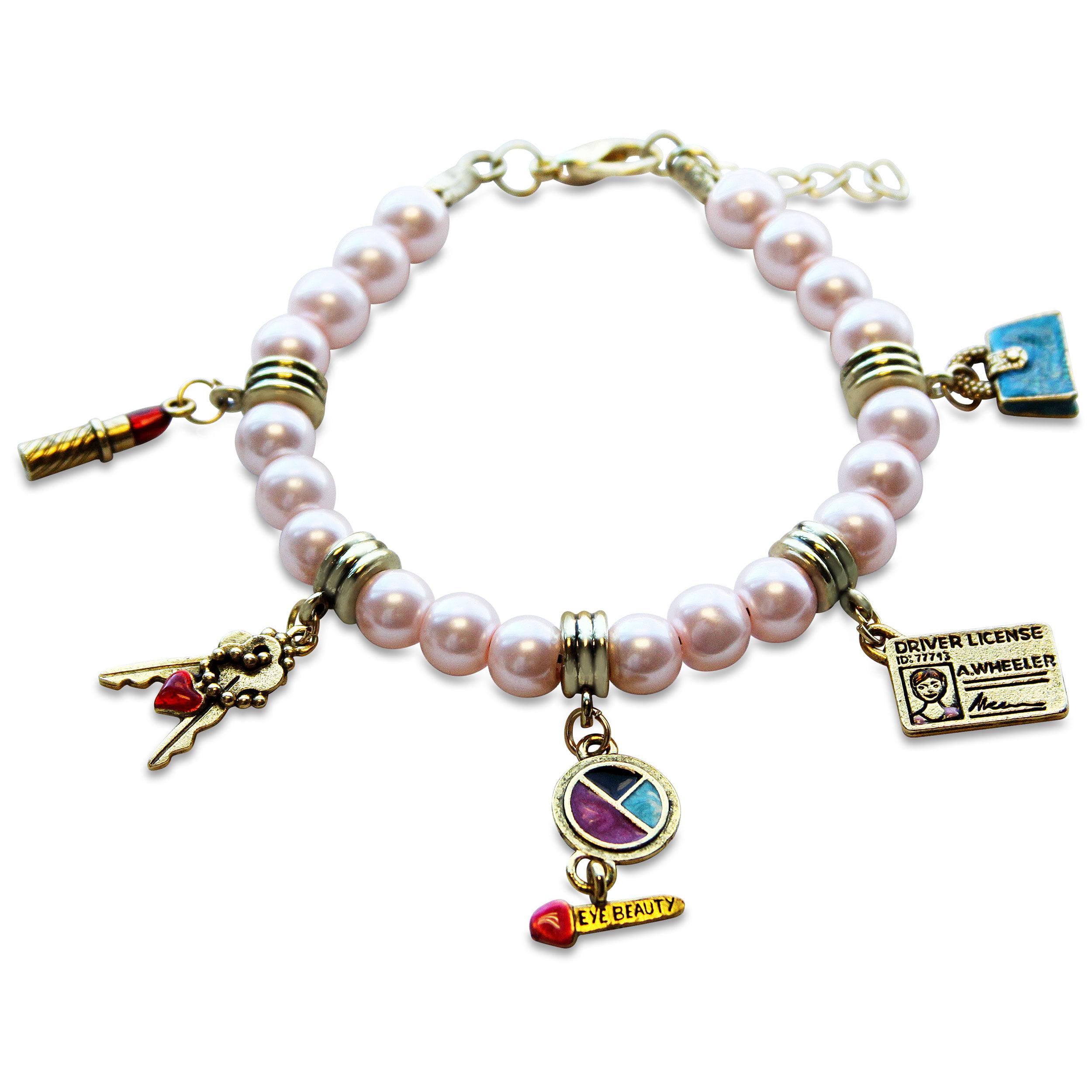 charm bracelet in gold walmart
