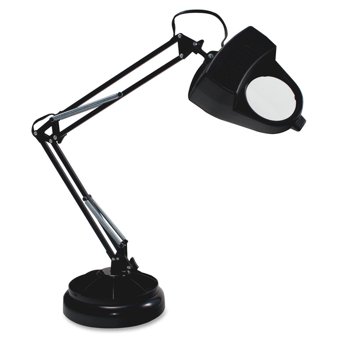 Ledu Magnifier Lamp - 15 W Bulb - Desk Mountable - Black (L9087)