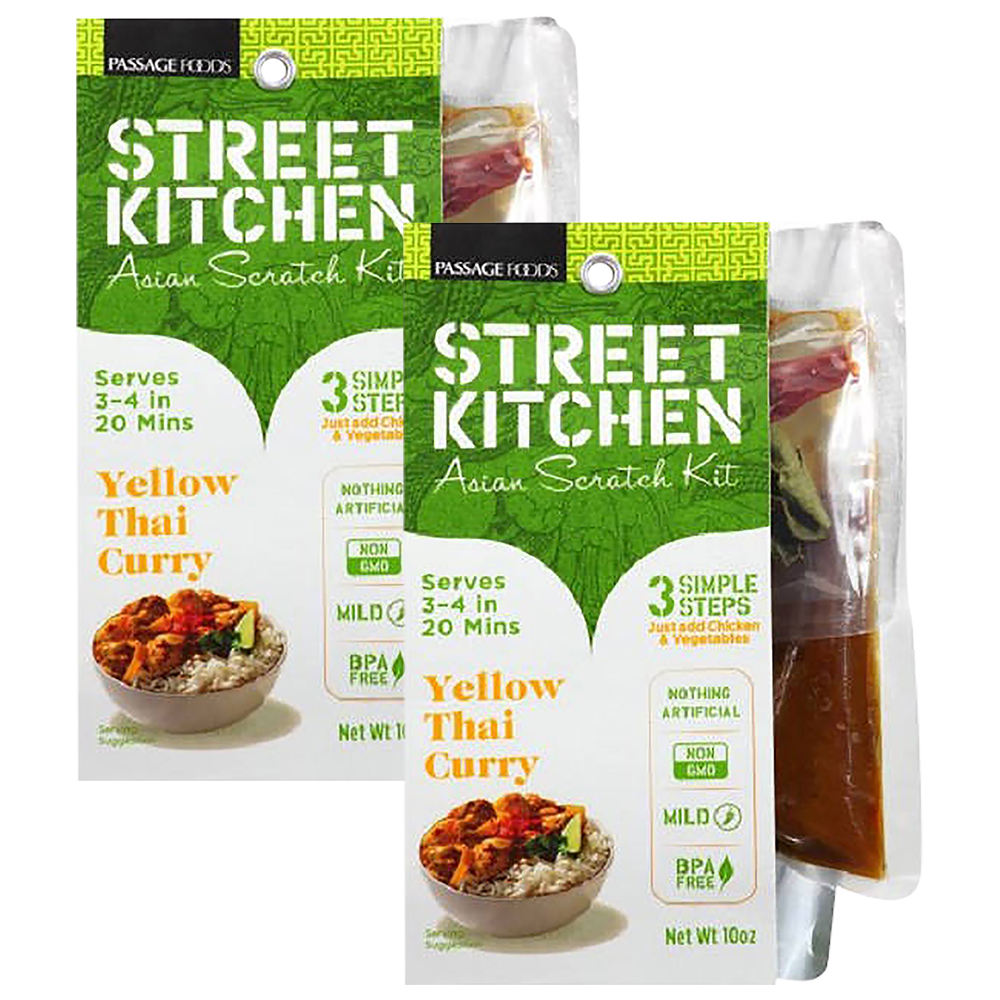 Street Kitchen Yellow Thai Curry Chicken Asian Scratch Kit, 10 oz (2 Packs)