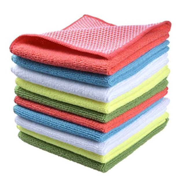 SINLAND Microfiber Cleaning Cloths Wiping Highly Absorbent For Home and Kitchen