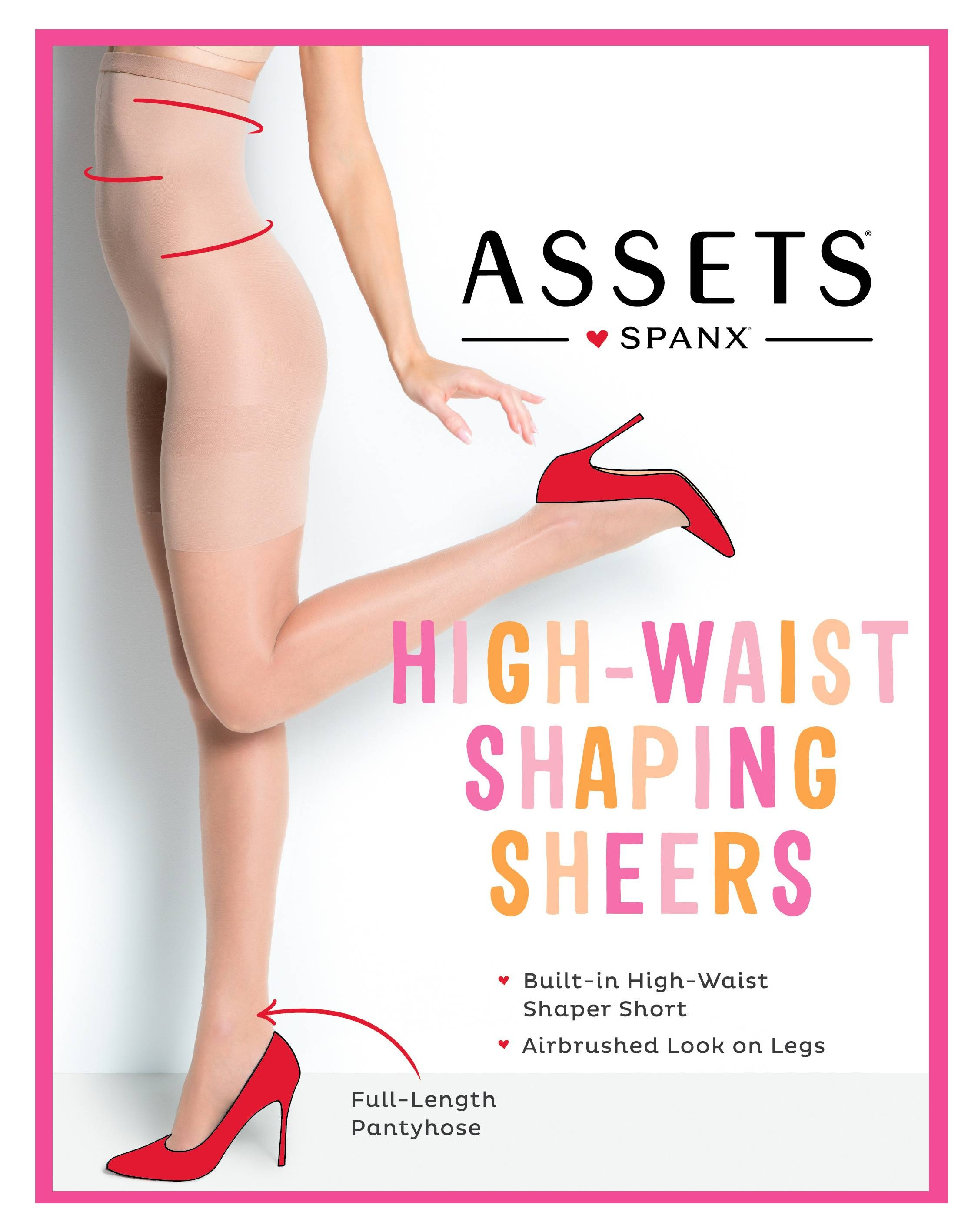 ca1444de4 ASSETS - ASSETS by Sara Blakely Perfect Pantyhose High Waist Shapewear 269  Nude 5 - Walmart.com