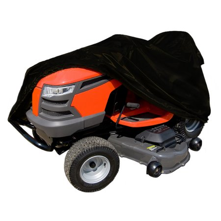 "Click here to buy Black Riding Lawn Mower Tractor Storage Cover, fits lawn tractors with a deck up to 55"" by YKS."